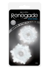 RENEGADE SPIKE RINGS CLEAR